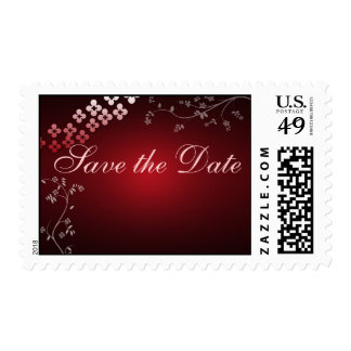 Dark red custom postage