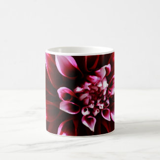 dark red dahlia classic white coffee mug