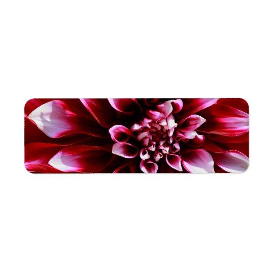 dark red dahlia label