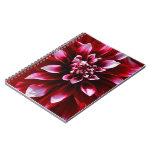 dark red dahlia spiral notebook