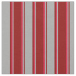 [ Thumbnail: Dark Red, Dark Gray, and Crimson Colored Stripes Fabric ]