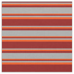 [ Thumbnail: Dark Red, Dark Gray & Red Colored Pattern Fabric ]