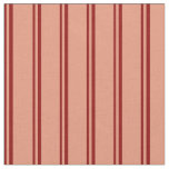 [ Thumbnail: Dark Red & Dark Salmon Colored Lines Pattern Fabric ]