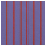 [ Thumbnail: Dark Red & Dark Slate Blue Stripes Fabric ]