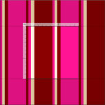[ Thumbnail: Dark Red, Deep Pink & Beige Colored Lines Pattern Fabric ]