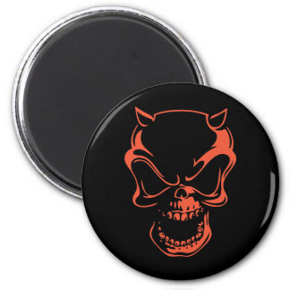 Dark Red Demon Skull Magnet
