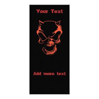 Dark Red Demon Skull Rack Card