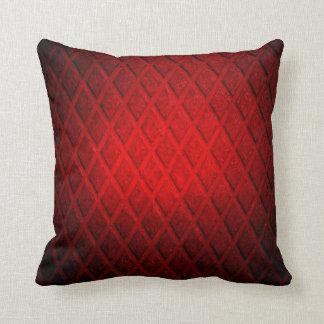 Dark red diamond metal throw pillows