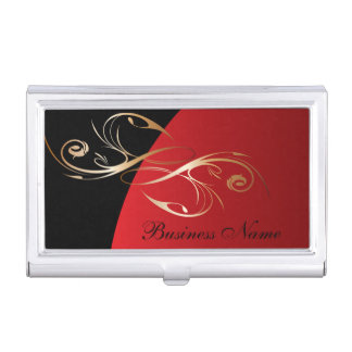 Dark Red Elegant Personalize Card Holder