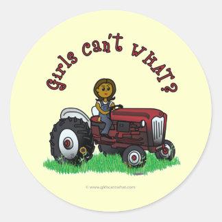 Dark Red Farmer Girl Stickers