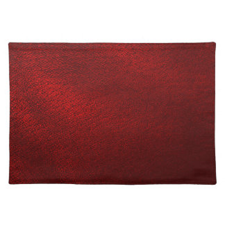 Delightful Dark Red (Faux) Leather Look Cloth Placemat
