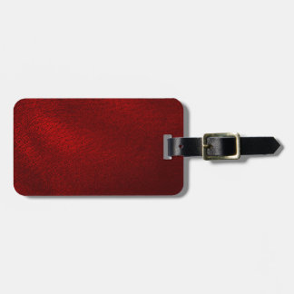 Dark Red (Faux) Leather Look Luggage Tag