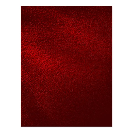 Dark Red (Faux) Leather Look Postcard