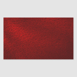 Dark Red (Faux) Leather Look Rectangular Sticker