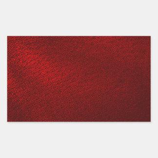 Dark Red (Faux) Leather Look Rectangular Sticker