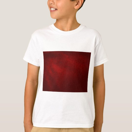 Dark Red (Faux) Leather Look T-Shirt