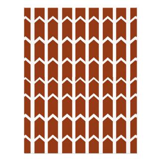 Dark Red Fence Panel Letterhead