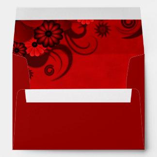 Dark Red Floral Gothic Elegant Custom Envelopes