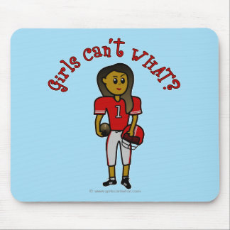 Dark Red Football Mouse Pad