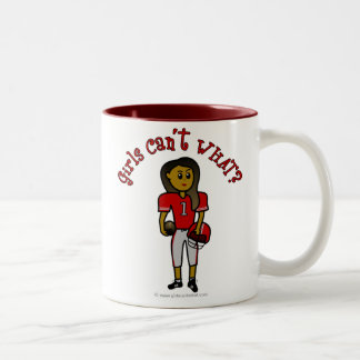Dark Red Football Two-Tone Coffee Mug