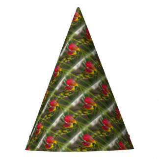 dark red freesia party hat