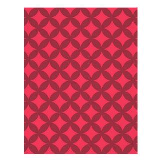Dark Red Geocircle Design Letterhead