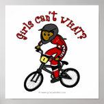 Dark Red Girls BMX Poster