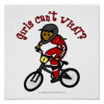 Dark Red Girls BMX Posters