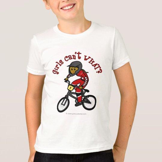 Dark Red Girls BMX T-Shirt