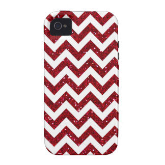 Dark Red Glitter Chevron Pattern Case For The iPhone 4