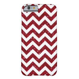 Dark Red Glitter Chevron Pattern iPhone 6 Case