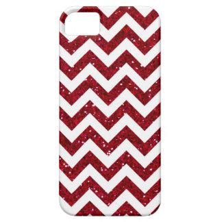 Dark Red Glitter Chevron Pattern iPhone SE/5/5s Case