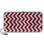 Dark Red Glitter Chevron Pattern Notebook Speakers