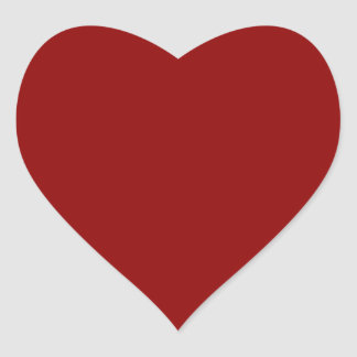 Dark Red Glossy Heart Sticker
