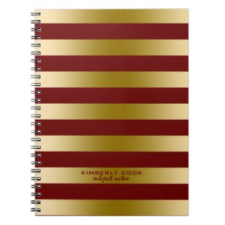 Dark Red & Gold Stripes Pattern