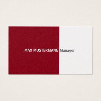 Dark red gold visiting card