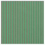 [ Thumbnail: Dark Red & Green Lined/Striped Pattern Fabric ]