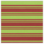 [ Thumbnail: Dark Red & Green Striped/Lined Pattern Fabric ]