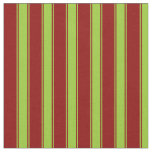 [ Thumbnail: Dark Red & Green Striped Pattern Fabric ]