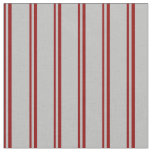 [ Thumbnail: Dark Red & Grey Colored Pattern Fabric ]