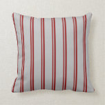 [ Thumbnail: Dark Red & Grey Colored Pattern Throw Pillow ]