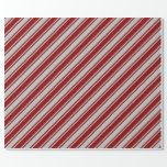 [ Thumbnail: Dark Red & Grey Lines Wrapping Paper ]