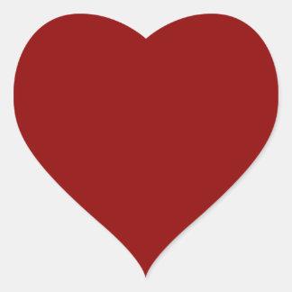 Dark Red Heart Sticker