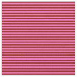 [ Thumbnail: Dark Red & Hot Pink Lines Pattern Fabric ]