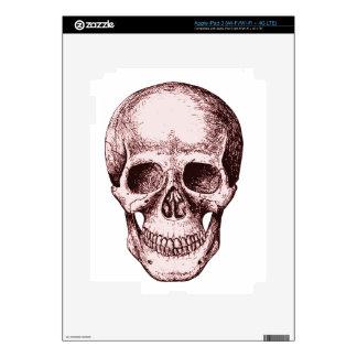 Dark Red Human skull Decals For iPad 3