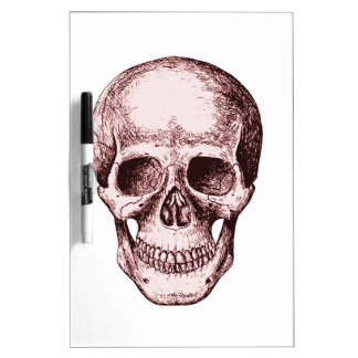 Dark Red Human skull Dry-Erase Whiteboards