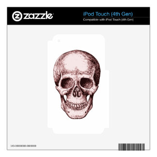 Dark Red Human skull iPod Touch 4G Skins
