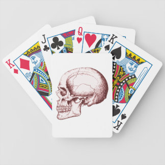 Dark Red Human Skull side Bicycle Playing Cards