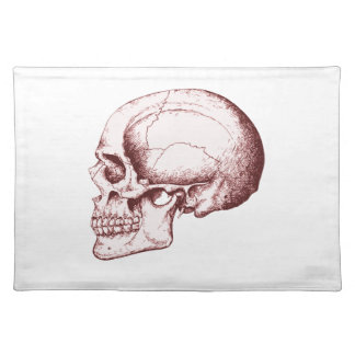 Dark Red Human Skull side Placemat