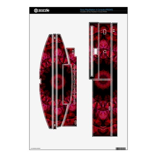 dark red lampion decal for the PS3